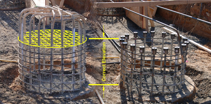 HRC 670 Field Installed T-Heads Solve Rebar Elevation Issues in the Field